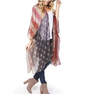 Classic Stars & Stripes Open Front Topper